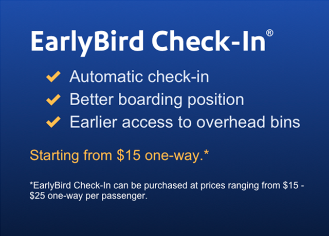 southwest airline early bird check in